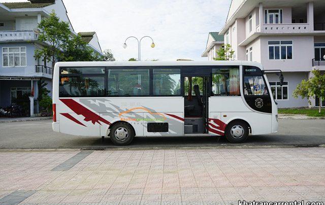 employee shuttle bus in danang